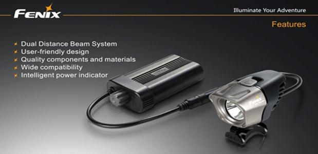 Fenix BT20 Dual beam LED Bikelight India, Dual beam LED