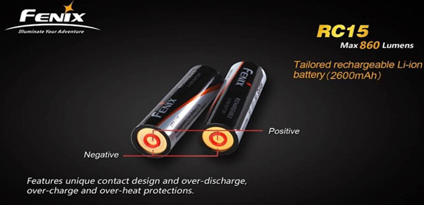 Fenix Rc15 Rechargeable Led Flashlights India Fenix Rc15