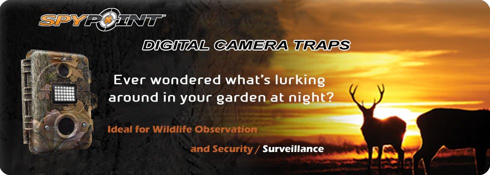 Trail Cameras, Digital Camera Trap dealers in Chennai, Cochin, Trivandrum, Bangalore, Hyderabad, India