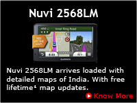 Garmin Nuvi 2568LM India with Lifetime Free Map Updates
